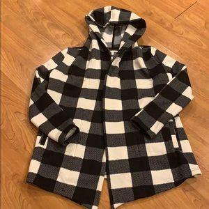 Black & White Gingham Jacket (Coatigan)